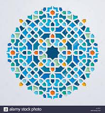 Arabic Pattern Circle Geometric Colorful Mosaic Morocco Ornament Arabic