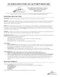 Resume Guide Actor Resume Guide University Career Services BYU 19