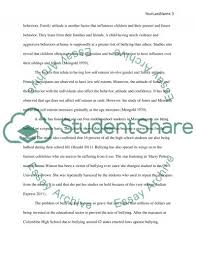 bullying in schools and colleges essay example topics and well   text preview