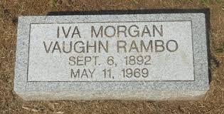 Iva Morgan Rambo (1892-1969) - Find A Grave Memorial