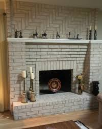 painted white brick fireplacePainted Brick Fireplace with white brick stone fireplace having