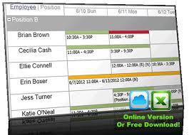 Make Work Schedule Online Free Make Schedules Online Under Fontanacountryinn Com