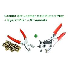metal hole punch pliers home depot grommet hole punch combo set leather pliers eyelet tools grommets