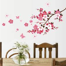 Tree Design Wallpaper Living Room Popular Cherry Flower Wallpaper Buy Cheap Cherry Flower Wallpaper