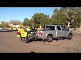 Motorcycle Loader Ramp System for Short Bed Pickups - YouTube