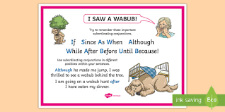 Ks2 What Is A Subordinating Conjunction A2 Display Poster