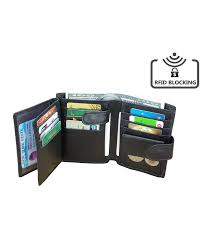 blocking wallet trifold leather credit