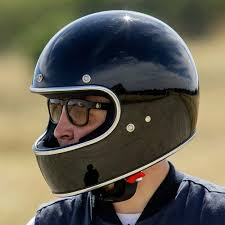 motorcycle helmet visors at the cafe