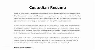 Custodian Resume Samples Cool Custodian Resume Sample Janitor Resume Sample Template Ambfaizelismail