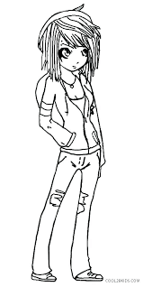 Coloring Page Of A Girl Dolls Coloring Pages Doll Page Girl Together