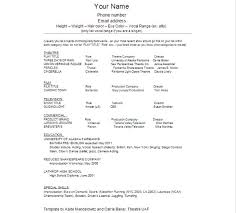 Actor Resume Template Delectable 48 Best Of Actors Resume Template Atopetioa