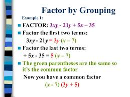 factoring four term polynomials 4 factor