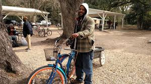 robert catfish simpson originally from sioux city iowa and now homeless in pensacola visits the alfred washburn center