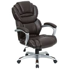 High Back Executive Leather Office Chair Lumbar Support