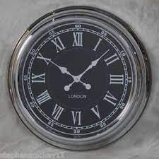 large london wall clock chrome with