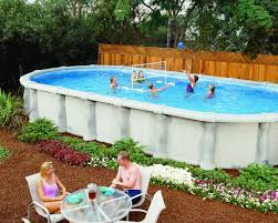 oval above ground pools allure