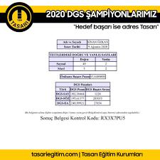 2020 DGS ŞAMPİYONLARIMIZLA... - Tasarı Eğitim Kurumları | Fac