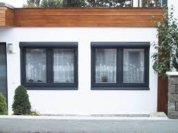 Fenster Mit Vorsatzrollläden In Ral 7016 Anthrazitgrau