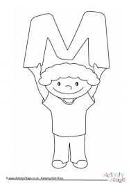 This blog post combines worksheets, flashcards, coloring pages, posters and other printables previously published in multiple posts and that are dedicated to the english so this post presents printables designed to teach the english alphabet and namely the letter m. Letter M Colouring Pages