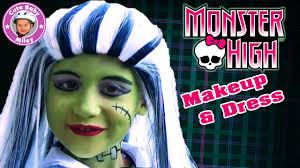monster high frankie stein makeup dress fur