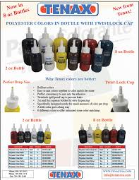 Tenax Polyester Colors In 2oz And 8oz Bottles Tenax Usa