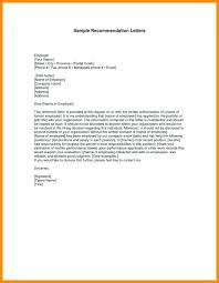 Employer Recommendation Letter Sample Sample Recommendation Letter For Employee Co Of Job From