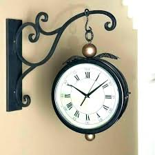 two sided wall clock large decorative wall clocks hanging double sided wall clocks for wall hanging