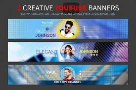 46 Youtube Channel Art Template Psd For Designing The