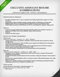 Chronological Sample Resume Executive Administrative Assistant
