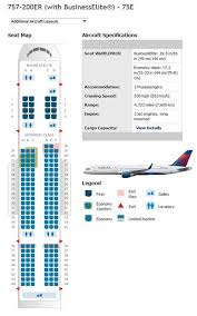 Delta Airlines Boeing 757 Airline Seating Chart Delta