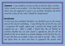 negligence essay negligence essay a car accident by ali osman oncel legl 210 business law i 2