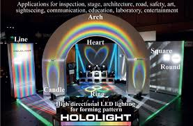 examples of the square round line and arch shaped lighting patterns that can be achieved using the led lighting device