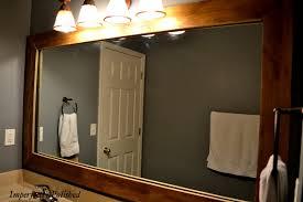 Wood Framed Bathroom Mirrors Centralazdining