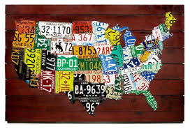 licenseplatesmap on license plate wall art all 50 states with wall art us map made from state license plates