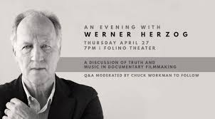 You're invited to An Evening with Werner Herzog – April 27 - Dodge College  of Film and Media Arts