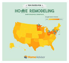 Home Improvement Remodeling Trends By State USA Simple Home Improvement Remodeling