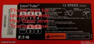 13 Speed Shift Pattern New Fuller Transmission 48 Speed Shift Pattern RTOO RTOOF For Sale