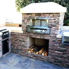 outdoor fireplace pizza oven smoker combo kits insert