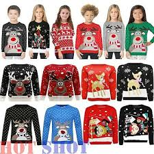 <b>Elf</b>,Jumper Sweater Kids Santa Knitted Sweater Ages 3-8Years Boys ...