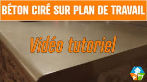 Béton Ciré Plan De Travail Cuisine Salle De Bain Extérieur Youtube