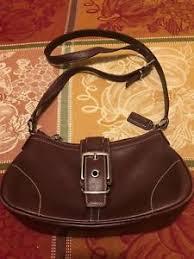 Image is loading EUC-Vintage-COACH-Hampton-Leather-Crossbody-Shoulder-Purse-