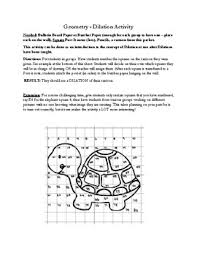Geometry Dilation Activity by Melodie Carr | Teachers Pay Teachers