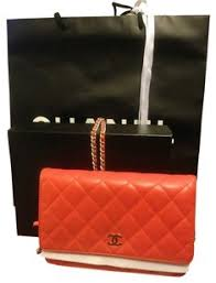 Red Chanel Bags - Up to 70% off at Tradesy & Chanel Lambskin Quilted Wallet On Chain Woc In Vuitton Prada Gucci Burberry  Tory Burch Kors Cross Adamdwight.com