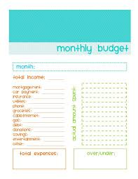 Simple Monthly Budget Template | Budget Template Free