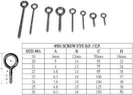 Screw Eyes Size Chart Price Eye Screw Ss Fasteners Stainless Steel Screws