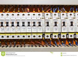 Circuit Breaker Cabinet Control Panel With Circuit Breakers Stock Image Image 19842561