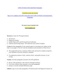 Com 156 Week 6 Individual Body Paragraphs By Ujhf Issuu