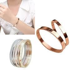 【mall】<b>Couple bracelet</b> Plain Cuff Bangle <b>Bracelet</b>   Shopee ...