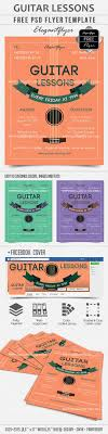 guitar lessons psd template facebook cover by elegantflyer guitar lessons psd template facebook cover