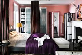 pink room with ikea furniture